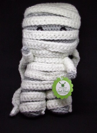 Crocheted Mummy from Drunken Aunt Wendy Designs