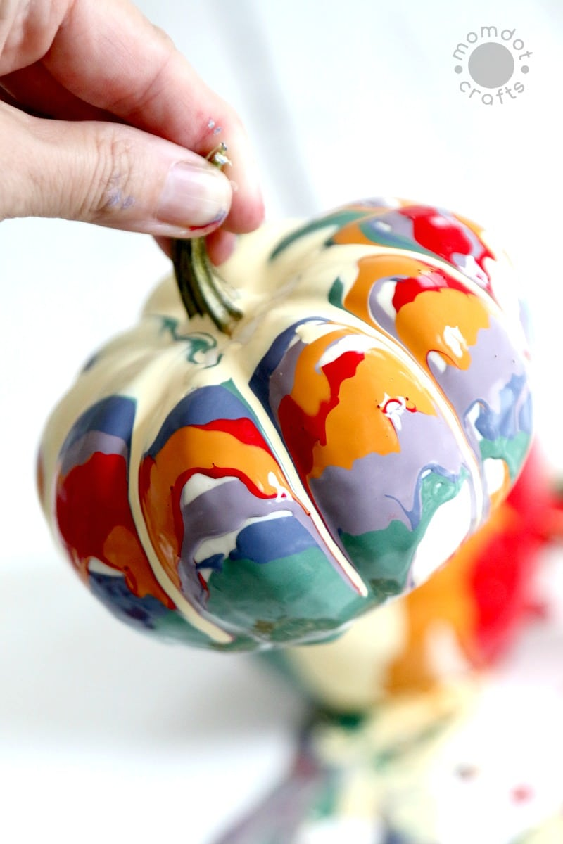 Drip Painted Pumpkins from Mom Dot Com