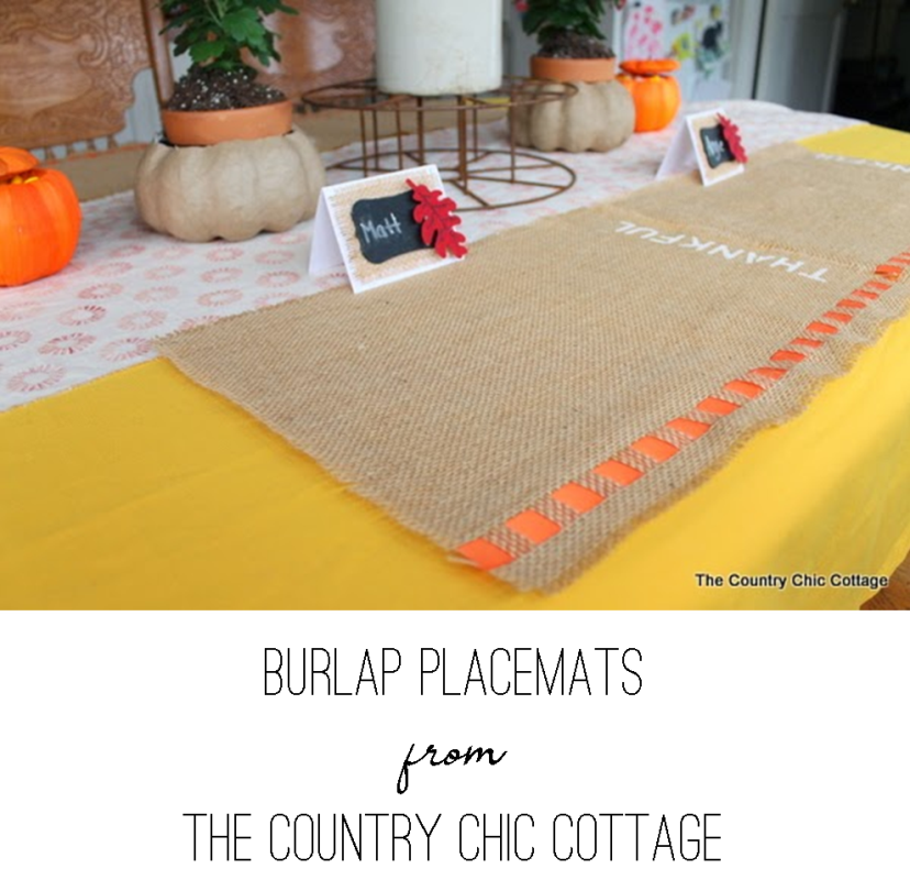 Burlap Placemats from The Country Chic Cottage