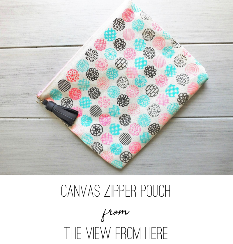 Canvas Zipper Pouch from The View from Here