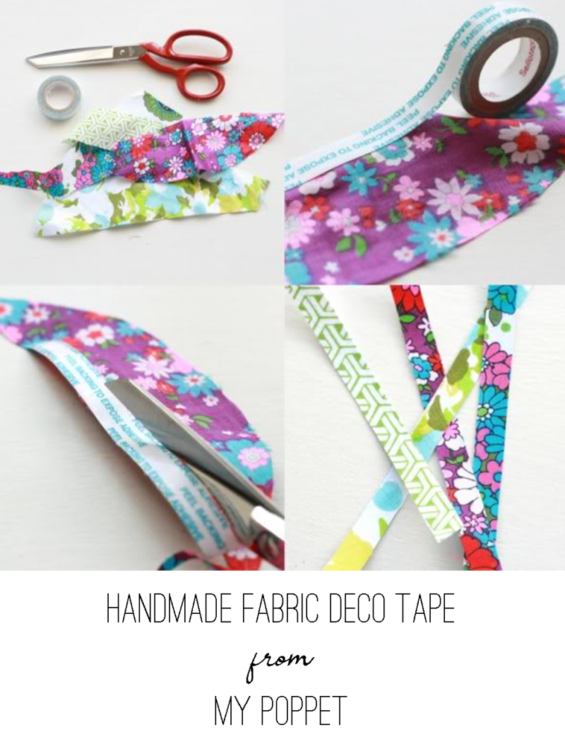 Handmade Fabric Deco Tape from My Poppet