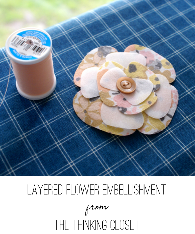 Layered Flower Embellishment from The Thinking Closet