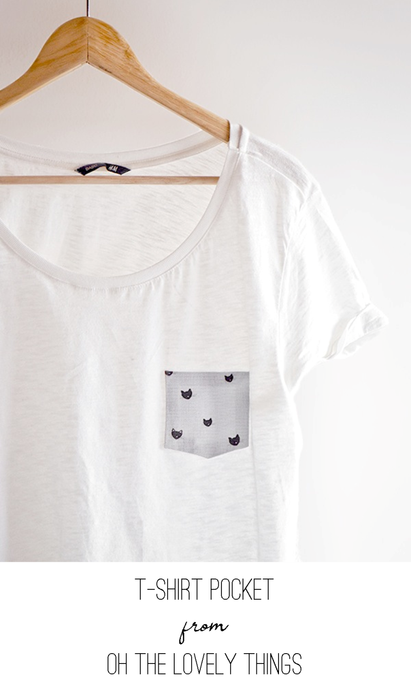 T-Shirt Pocket from Oh the Lovely Things
