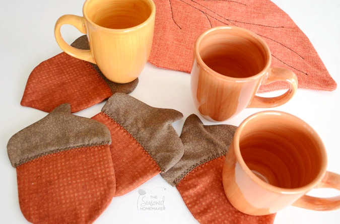 Acorn Coasters from Seasoned Homemaker