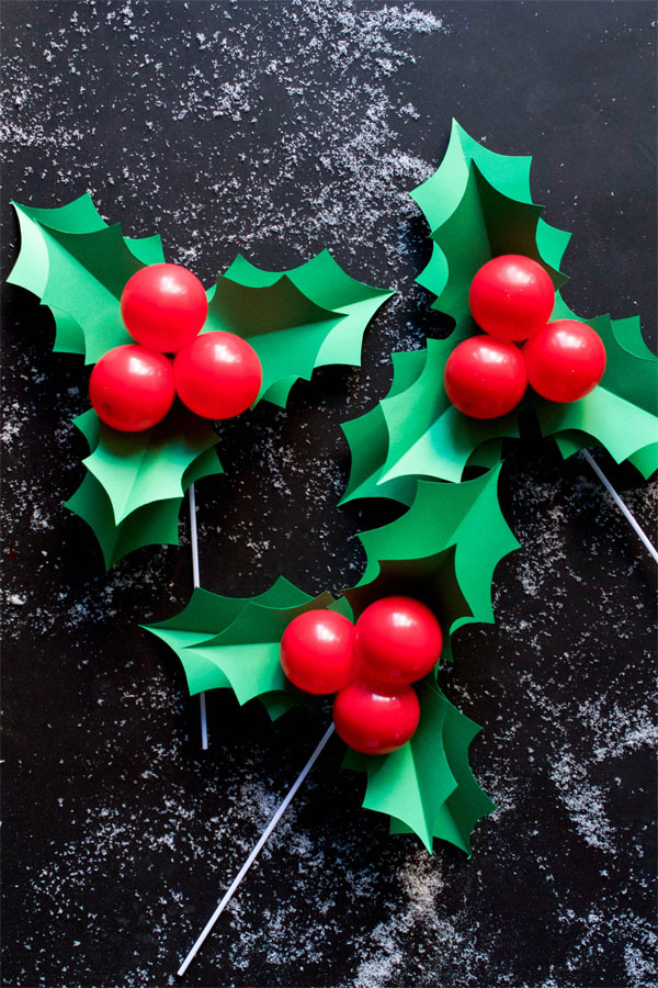Holly Balloon Sticks from Oh Happy Day