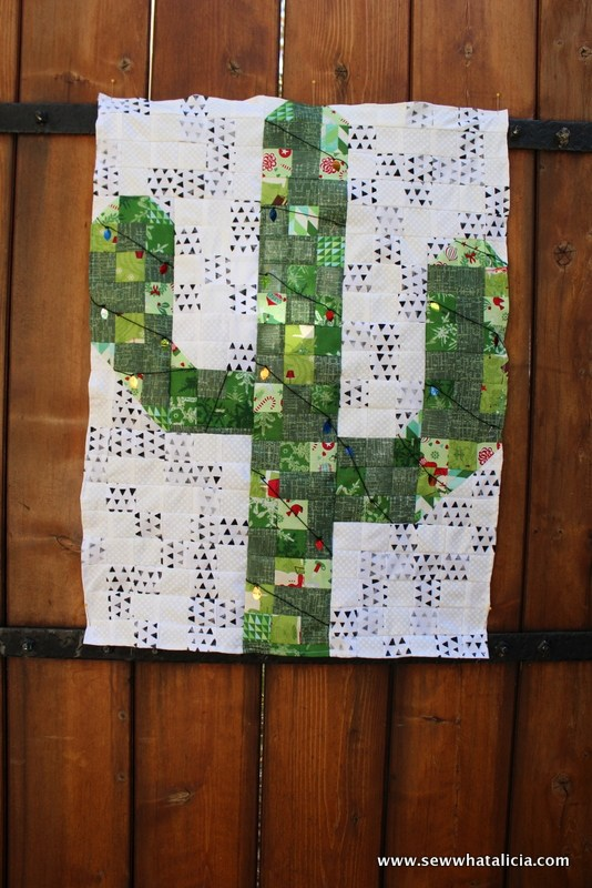 Christmas Cactus Wall Hanging from Sew What Alicia