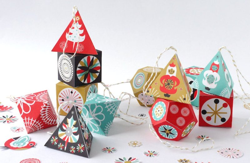 Printable Paper Christmas Decor from SamOsborneStore