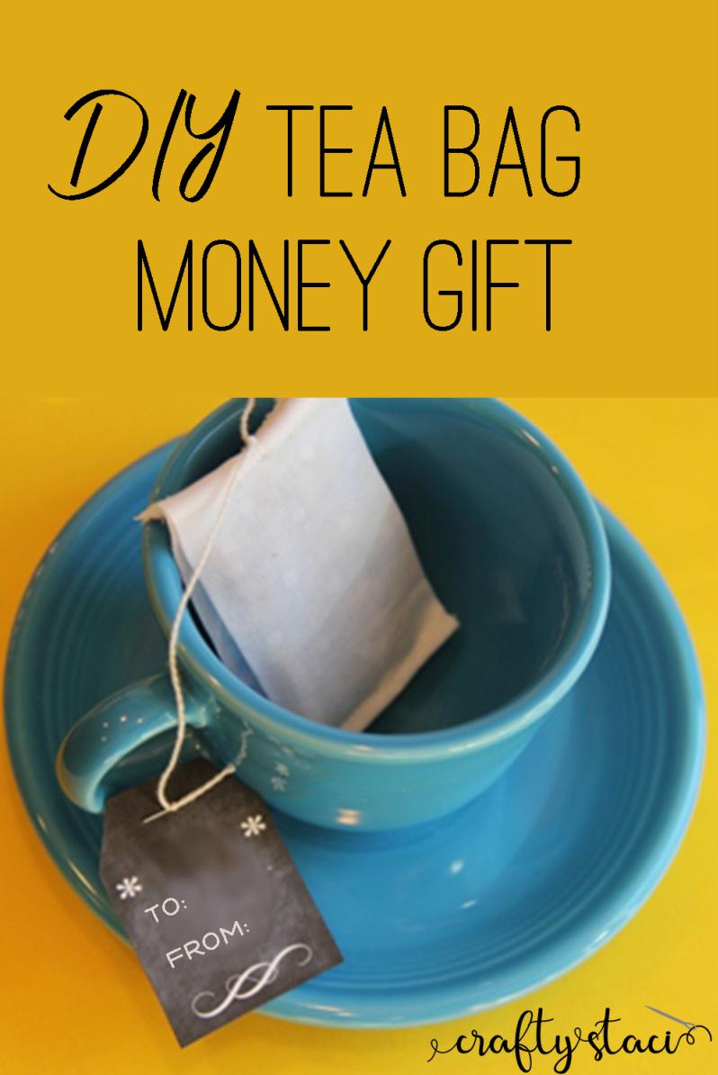 DIY Tea Bag Money Gift from craftystaci.com #giftcardholder #cashgiftholder