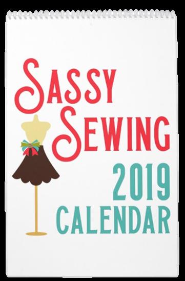 Sassy Sewing 2019 Calendar