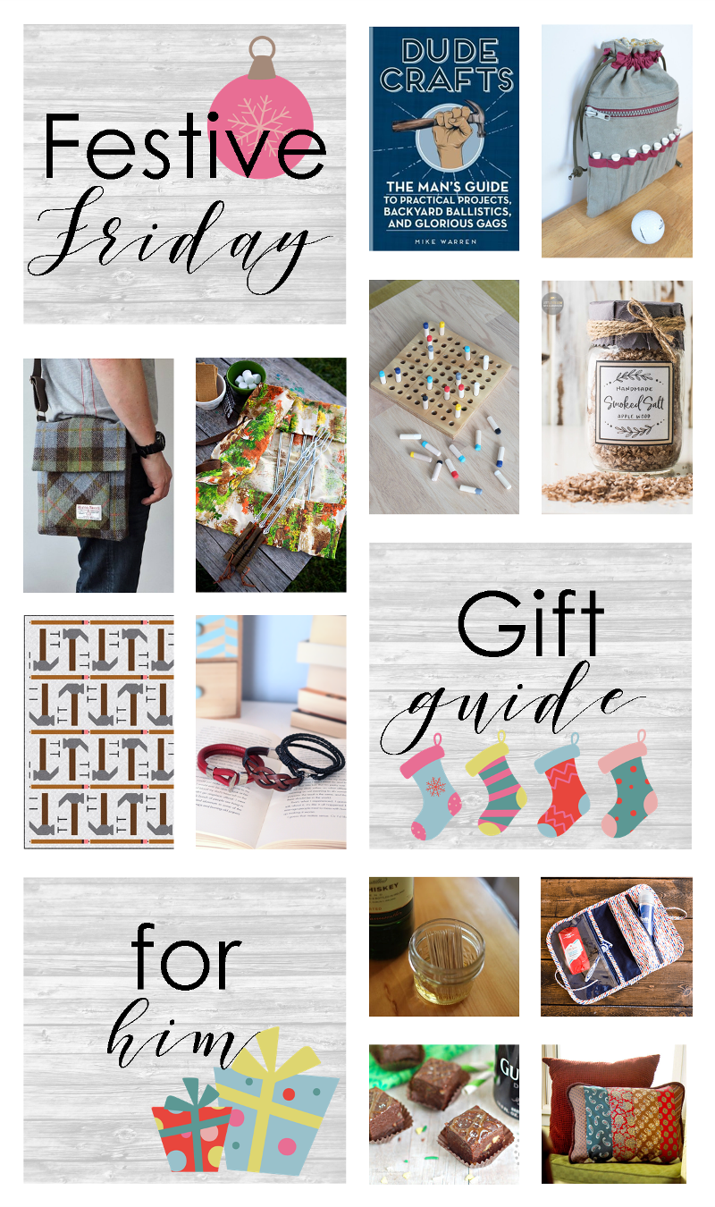 Festive Friday No. 411 - Gifts for Him on craftystaci.com #fridayfavorites #festivefriday