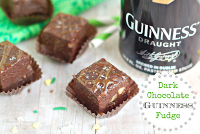 Dark Chocolate Guinness Fudge from The Sweet Chick