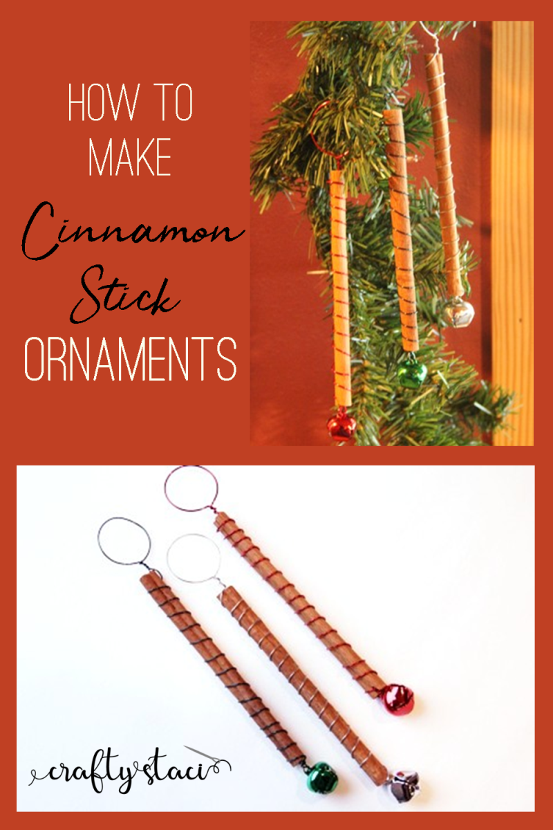 How to make Cinnamon Stick Ornaments from craftystaci.com #cinnamonstickcrafts #diychristmasornaments
