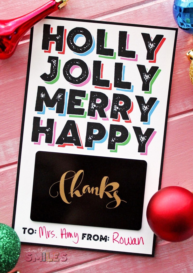 Printable Gift Card Holder from Where the Smiles Have Been
