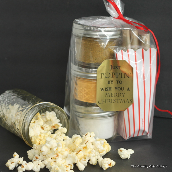 Gourmet Popcorn Gift from The Country Chic Cottage