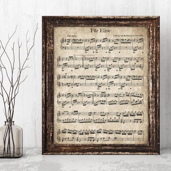 Printable Vintage Sheet Music from DownThePathCreations
