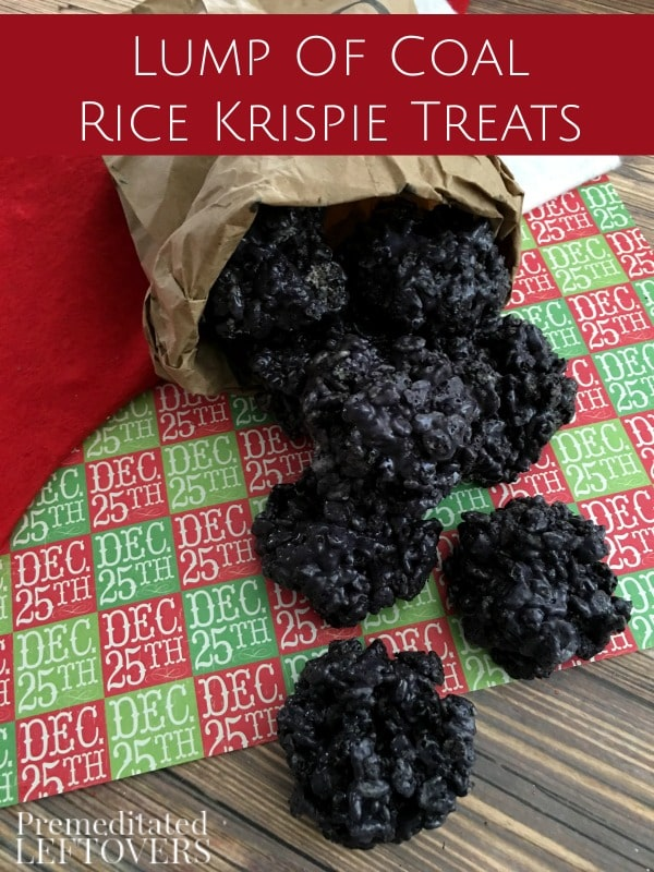 Lump of Coal Rice Cereal Treats from Premeditated Leftovers
