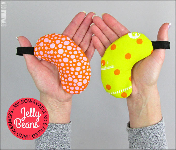 Jelly Bean Hand Warmers from Sew4Home