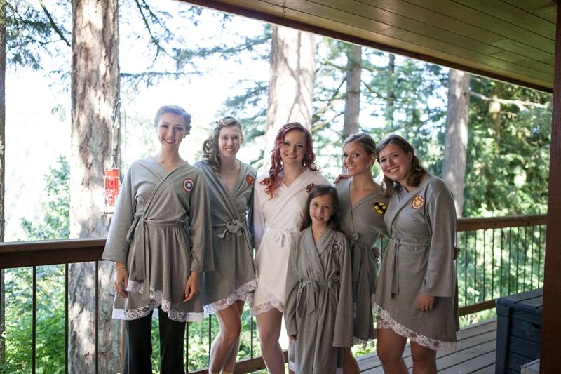 bridesmaids in handmade robes - craftystaci.com