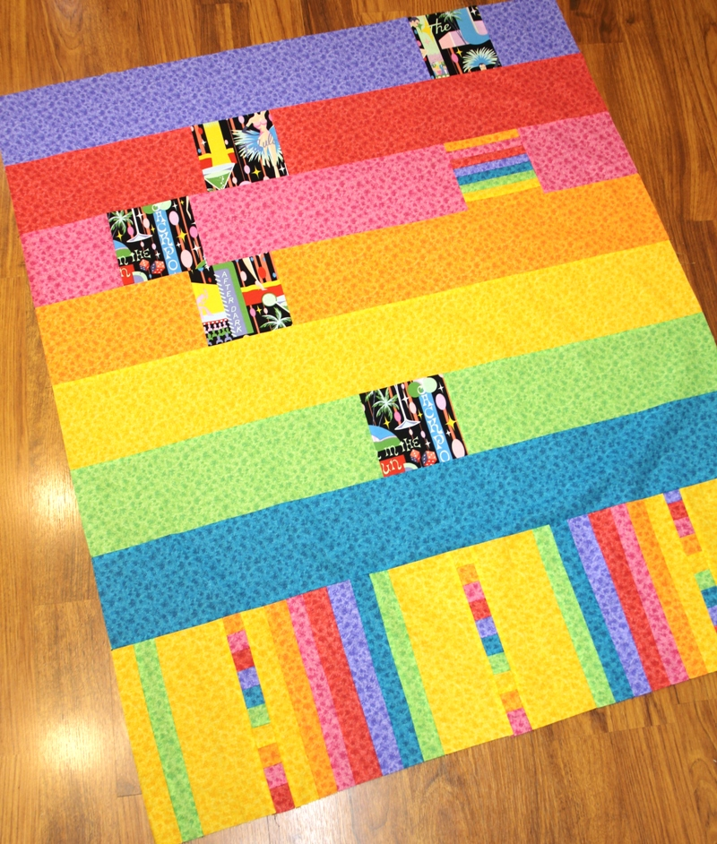 Vegas quilt back from craftystaci.com