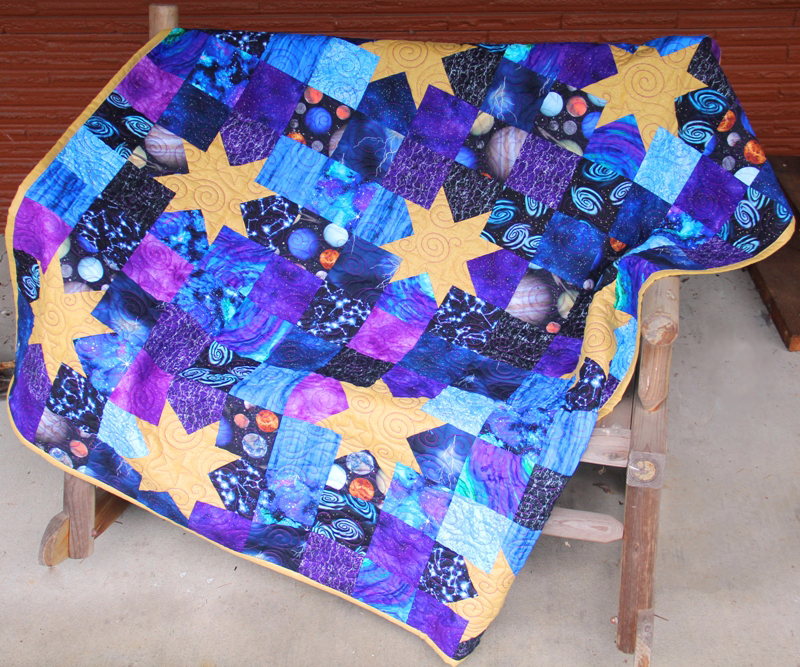 Starry Night Quilt on craftystaci.com