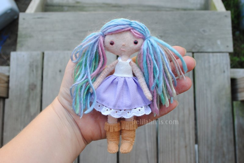 Felt Doll Sewing Pattern from DelilahIris