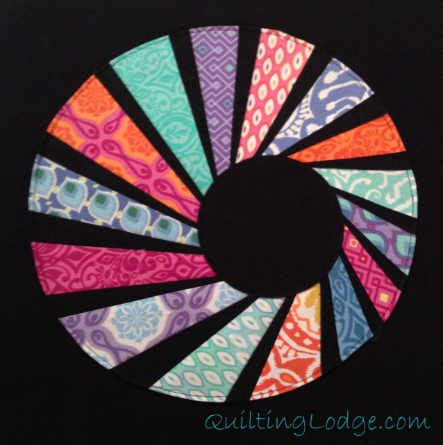 Swirly Twirly Dresden Quilt from Orchid Owl Quilts