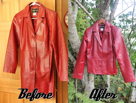 Red Coat Before and After
