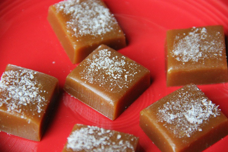 Microwave Homemade Salted Caramels from craftystaci.com
