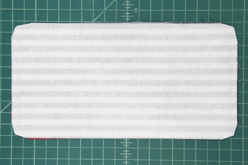 Stitch around edge and clip corners