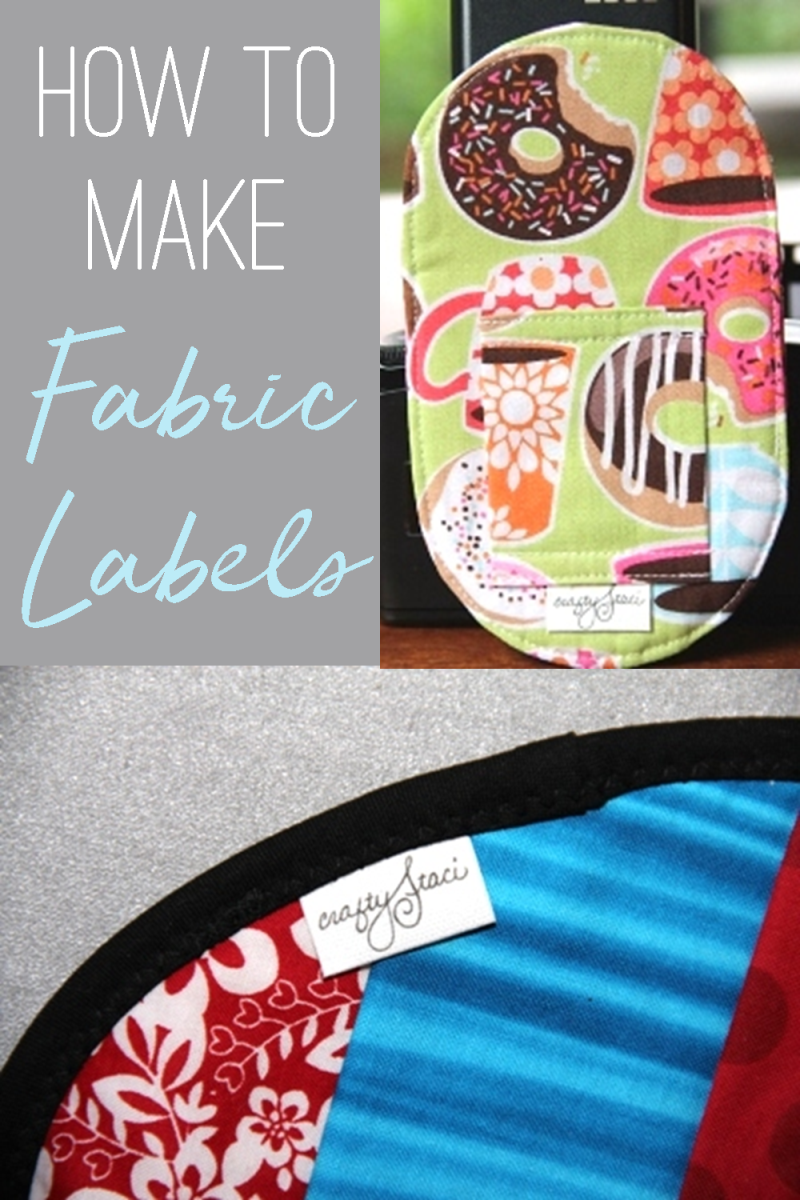 How to make fabric labels for your sewing projects from craftystaci.com #sewing #fabriclabels