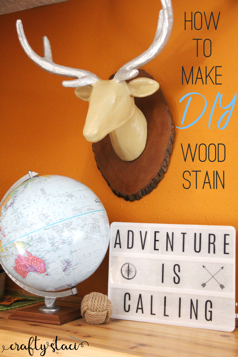 How to make DIY wood stain from craftystaci.com #espressowoodstain #cocoawoodstain