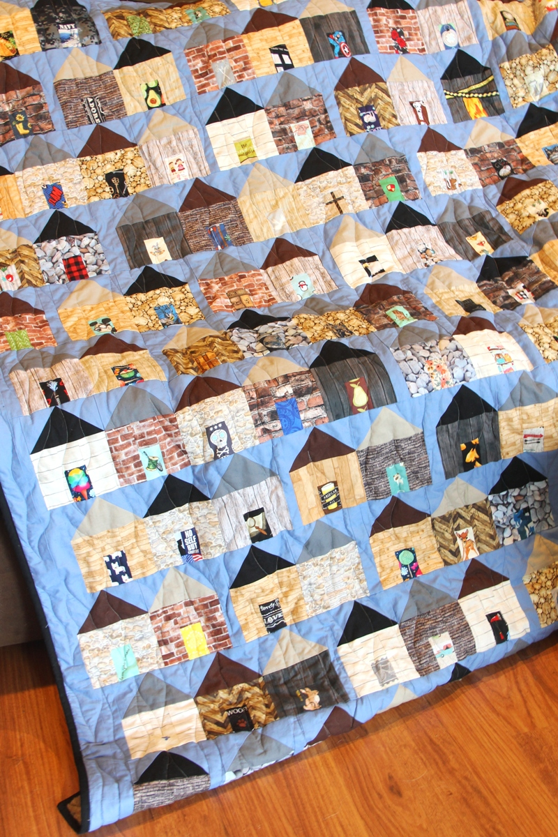 Sewing a Village Quilt from CraftyStaci