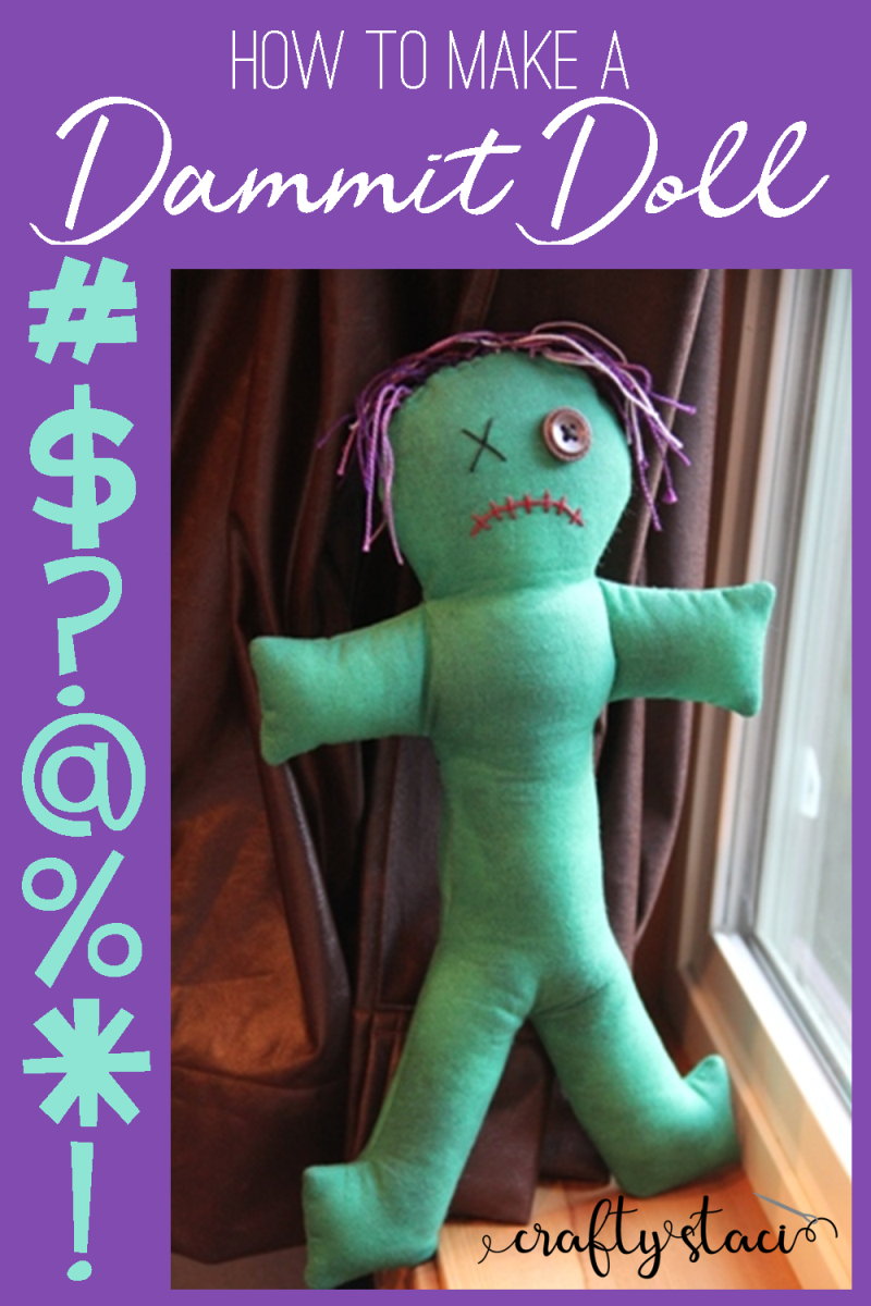 How to make a Dammit Doll from craftystaci.com #dammitdoll #damnitdoll