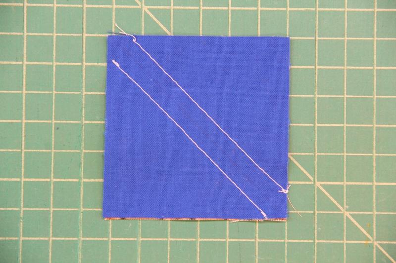 Stitch on both sides of line