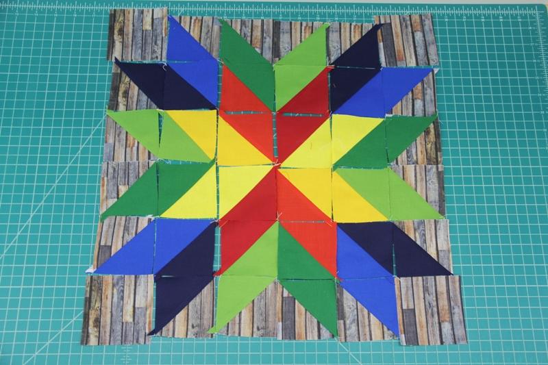 all half square triangles sewn