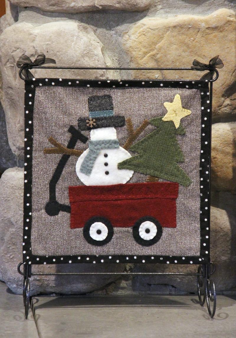 Snowman Wool Applique