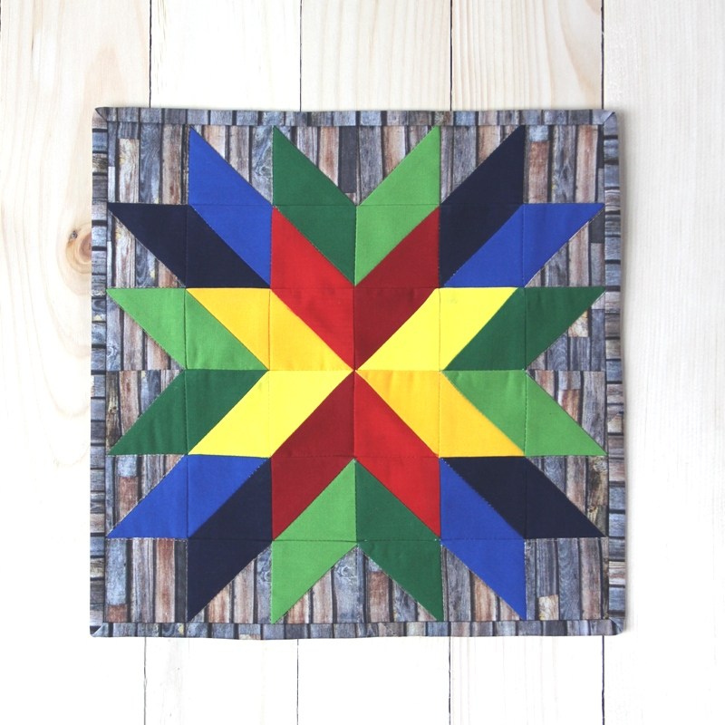 Sewing tutorial: Mini barn star quilt