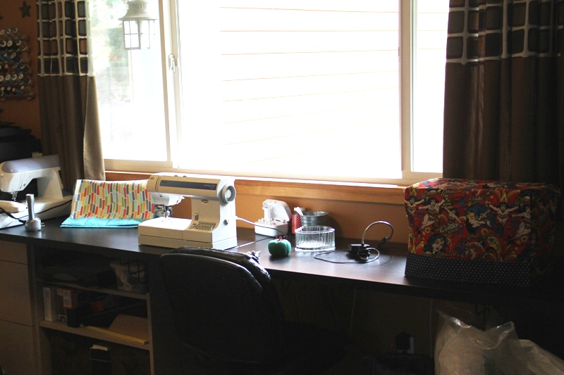 Sewing machines in office