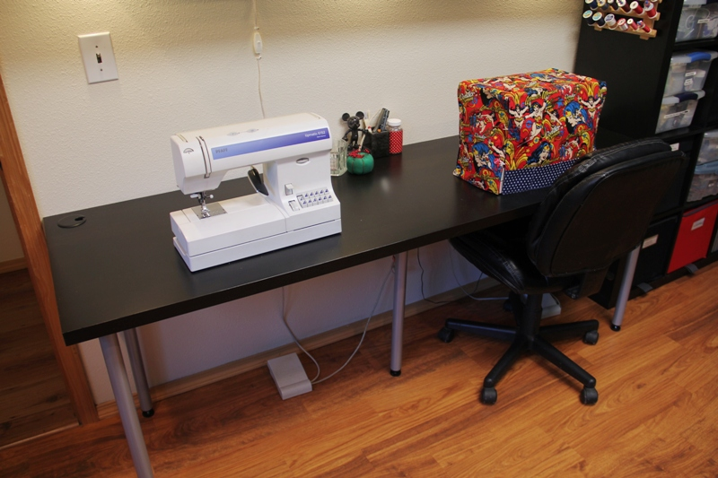 Sewing machines in sewing room