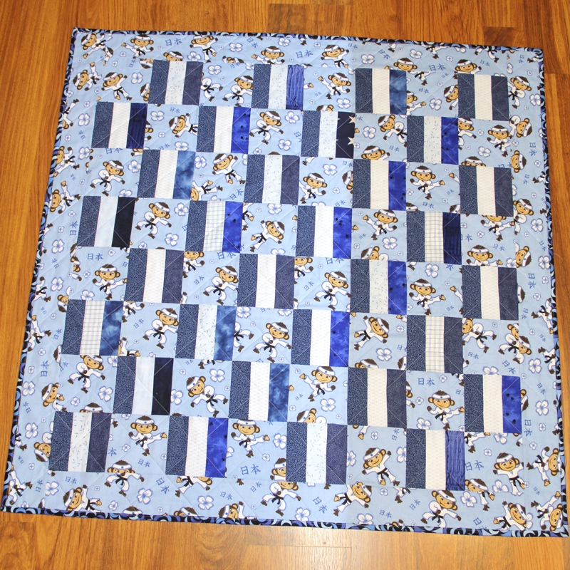 Baby box quilt front