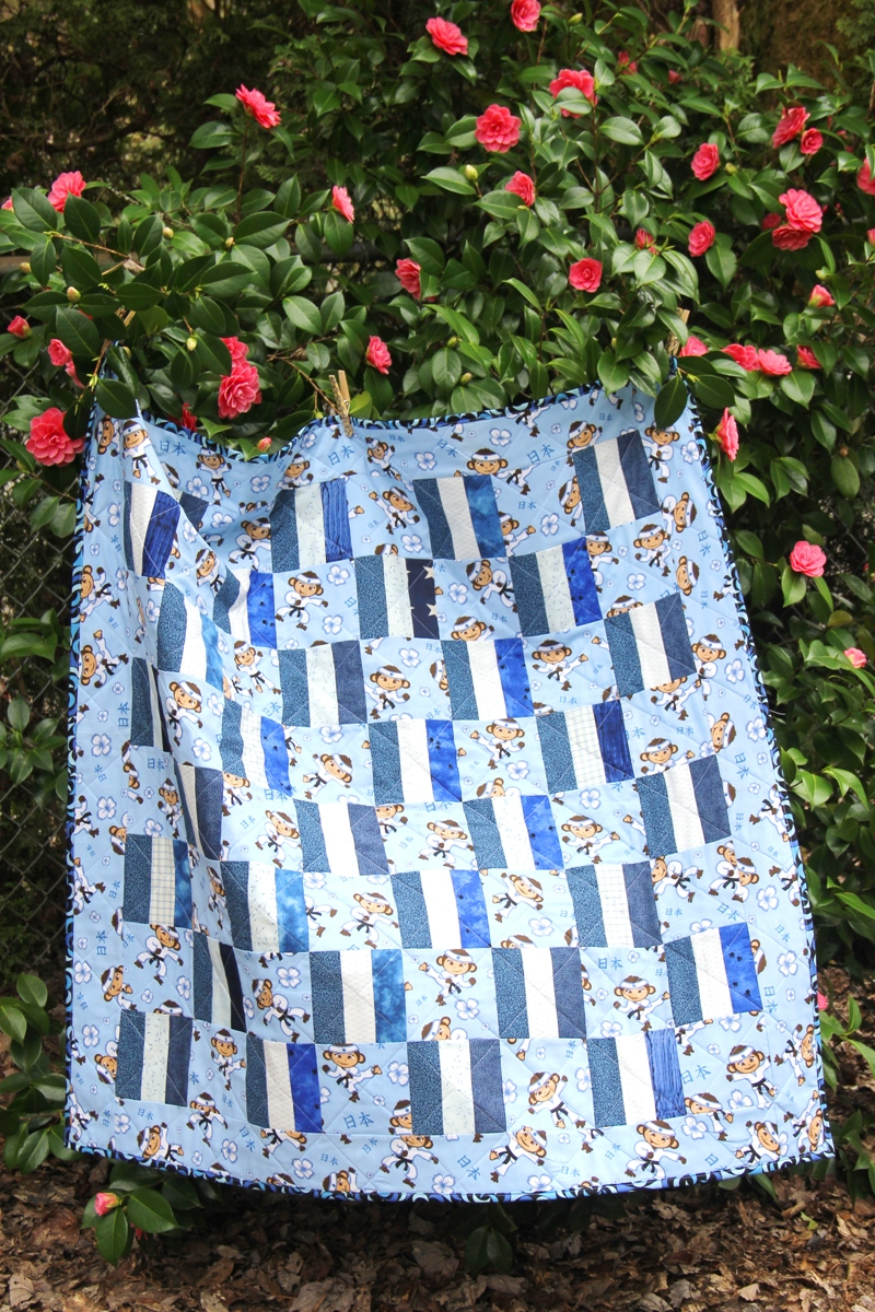 Blue Baby Box Quilt