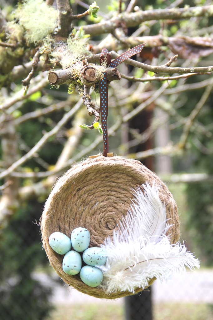 Hoop Art Robins Nest from Crafty Staci