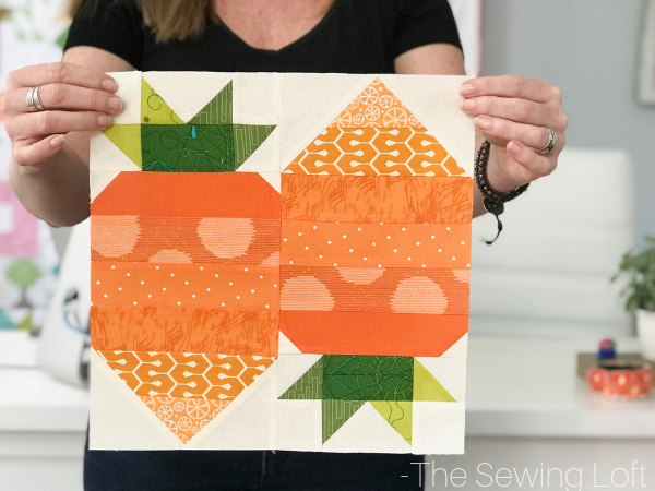 Carrot Top Quilt Block from The Sewing Loft