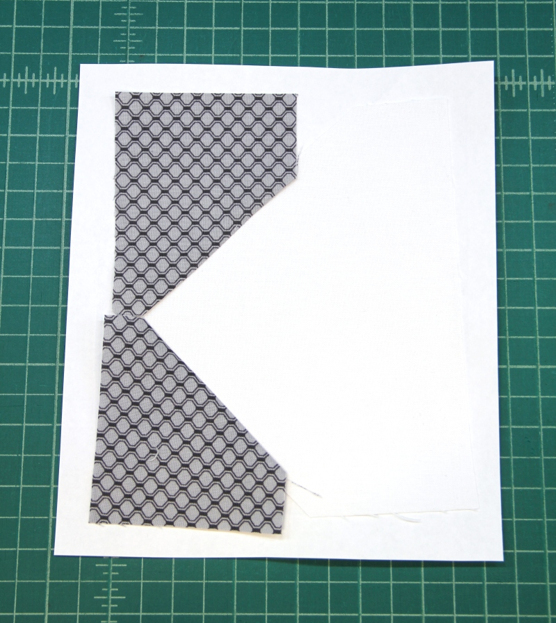 Pieces 1A 2A and 3A for camera quilt block
