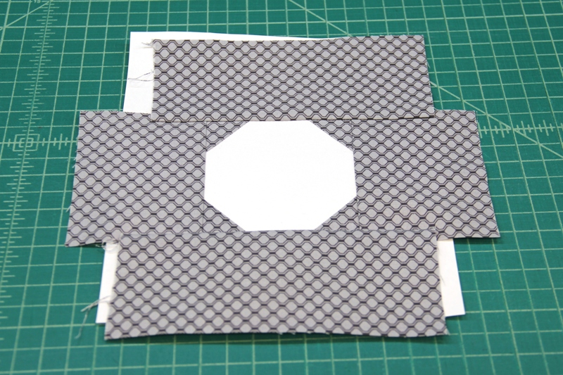 Lens and surround complete for camera quilt block
