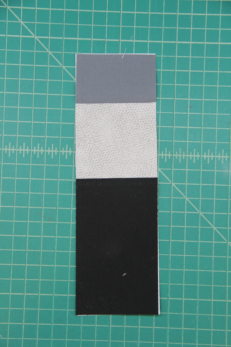 Section C trimmed for camera quilt block