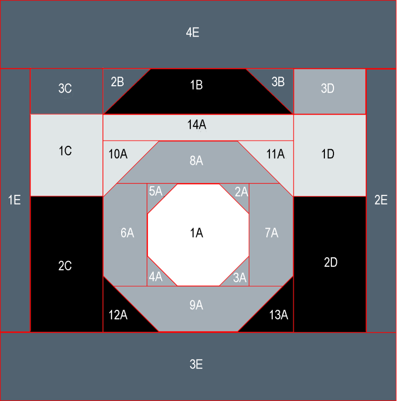 Camera quilt square reference graph