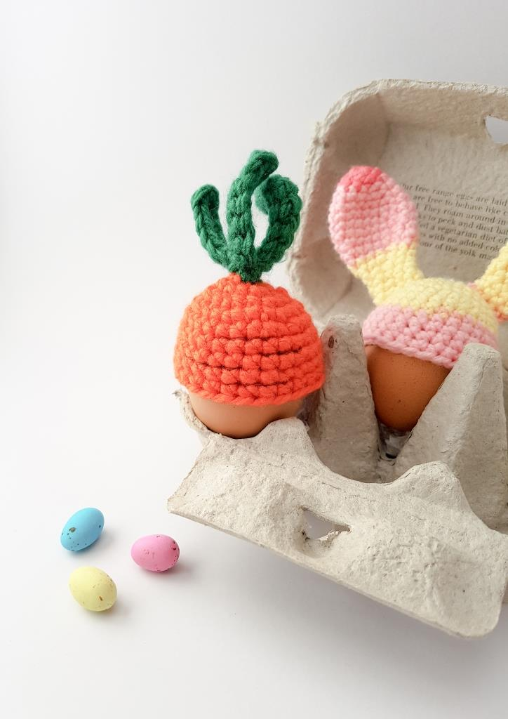 Carrot Top Egg Cosy from Thoresby Cottage