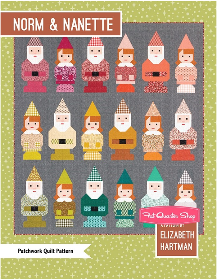 Norm and Nanette Garden Gnome Quilt Pattern by Elizabeth Hartman