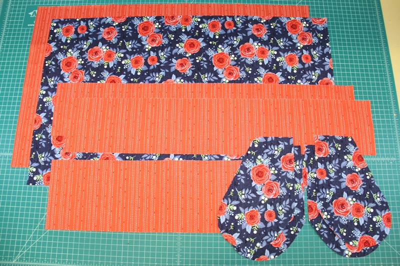 Supplies for apron with secret pockets